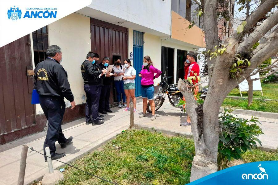OCHO CIUDADANOS EXTRANJEROS INDOCUMENTADOS DEJÓ OPERATIVO ENTRE LA POLICÍA Y LA MUNICIPALIDAD DE ANCÓN