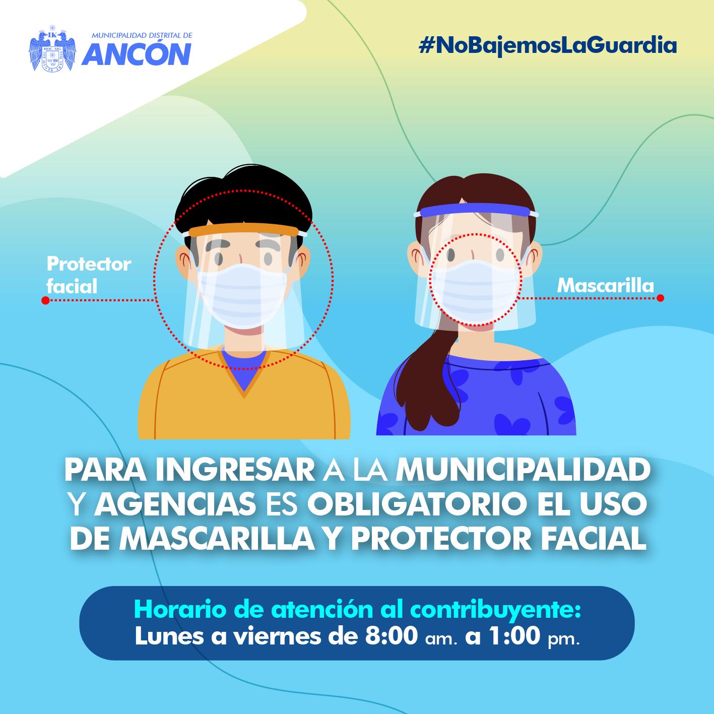 Protector facial oblogatorio